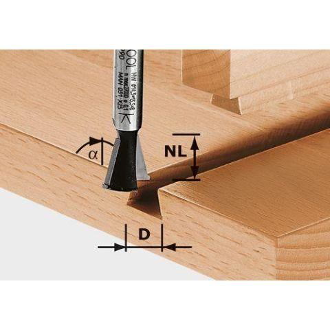 1120623 Festool HW S8 D14,3/13,5/15° Grad-/sinkfräs 8mm spindel