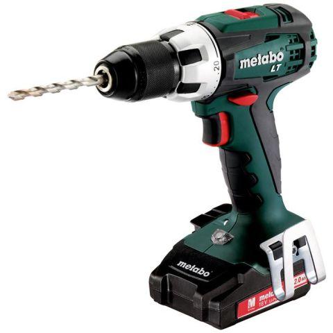 1110278 Metabo BS 18 LT Compact Borrskruvdragare med 2,0Ah batterier och laddare