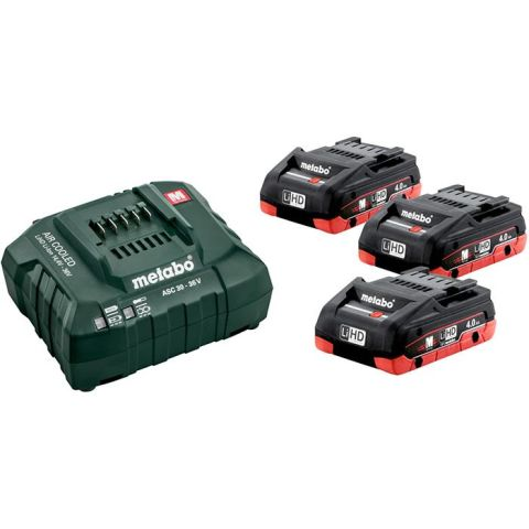 1110359 Metabo Bas-set Laddpaket 3st 4,0Ah batterier