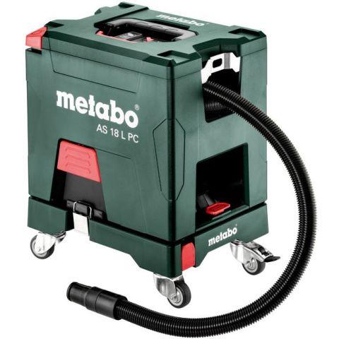1110355 Metabo Set AS 18 L PC Dammsugare utan batteri och laddare, med rullbräda