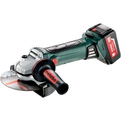 1110497 Metabo W 18 LTX 150 Quick Vinkelslip med 5,2Ah batterier och laddare
