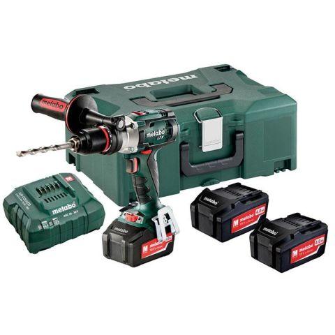 1110459 Metabo SB 18 LTX Impuls Set Slagborrmaskin med 4,0Ah batterier och laddare