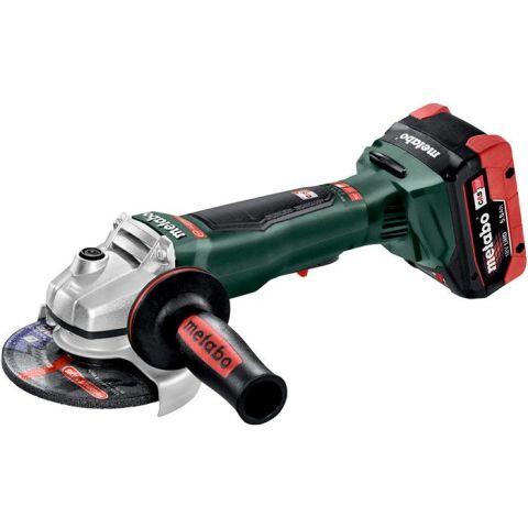 1110557 Metabo WPB 18 LTX BL 125 Quick Vinkelslip med 5,5Ah batterier och laddare
