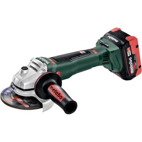 1110560 Metabo WB 18 LTX BL 125 Quick Vinkelslip med 5,5Ah batterier och laddare