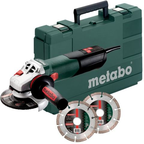 1110507 Metabo W 12-125 Quick Set Vinkelslip med diamantkapskivor
