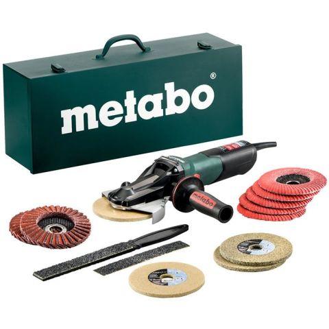1110564 Metabo WEVF 10-125 Quick Inox Set Vinkelslip med tillbehör och förvaringslåda av plåt