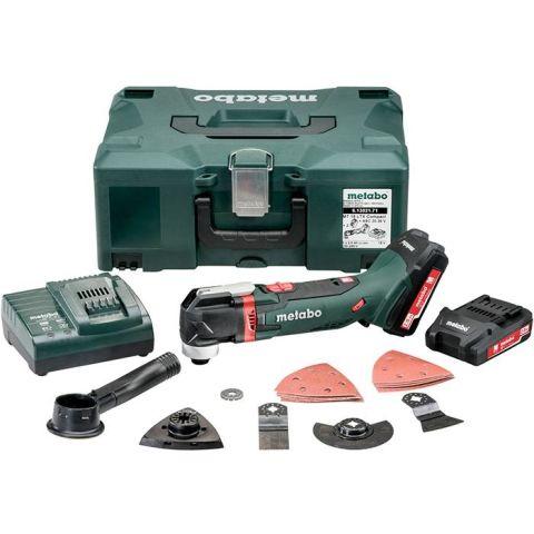 1110645 Metabo MT 18 LTX Compact Multiverktyg med Metaloc, 2,0Ah batterier och laddare