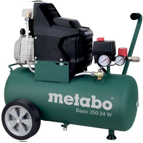 1110721 Metabo Basic 250-24 W Kompressor med påfyllnadskapacitet 110 l/min