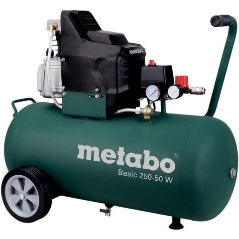 1110722 Metabo Basic 250-50 W Kompressor påfyllnadskapacitet 110 l/min, 50 liter