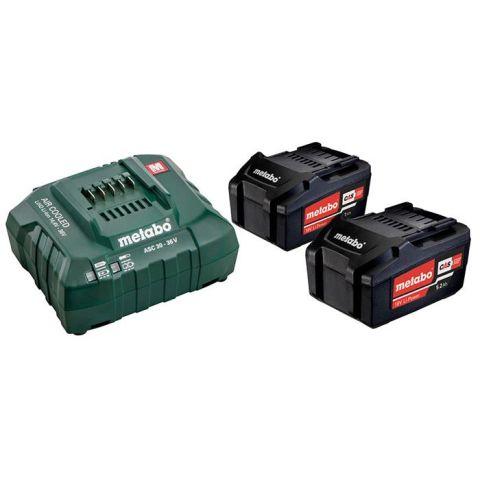 1110840 Metabo Bas-set Laddpaket med 2 st 5,2Ah batterier och laddare