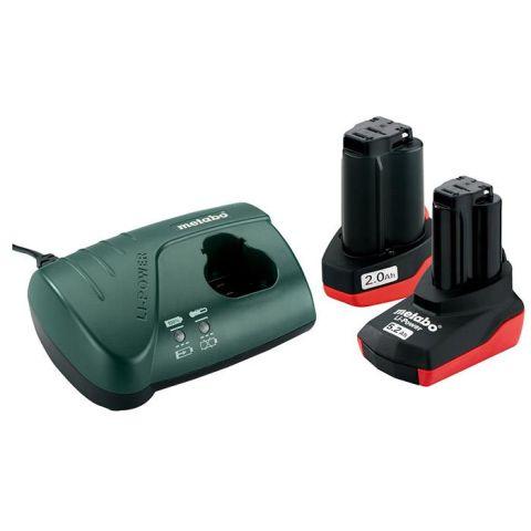 1110848 Metabo Bas-set Laddpaket 1 X 2,0Ah, 1 X 5,2Ah batterier och laddare