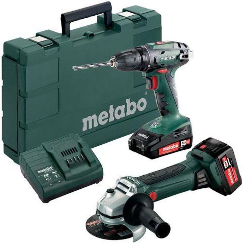 1110851 Metabo BS 18 + W 18 LTX 125 QUICK Verktygspaket med batterier och laddare