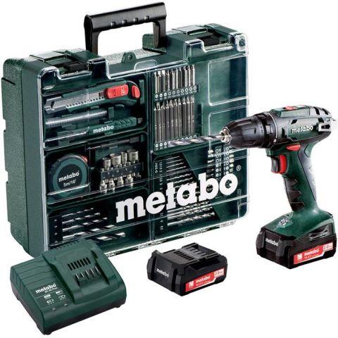 1110898 Metabo BS 14.4 SET Borrskruvdragare 2,0Ah batterier, laddare och tillbehör
