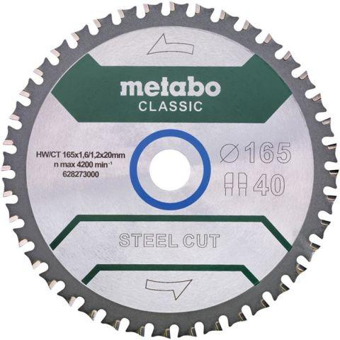 1110999 Metabo 628273000 Sågklinga 165x20 mm Z40 WZ 4