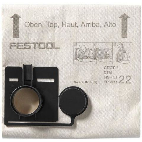1120304 Festool FIS-CT 44 SP VLIES Filtersäck 5-pack