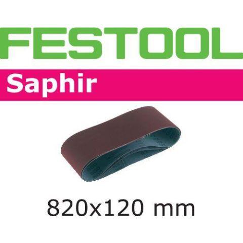 1120440 Festool SA Slipband för CMB120, 820x120mm, 10-pack P80