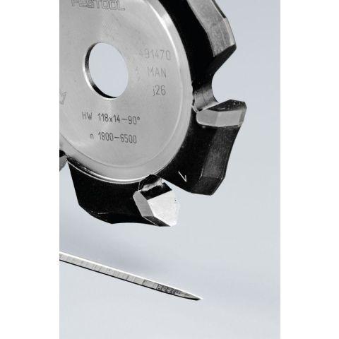 1120764 Festool HW 118x14-90° V-notfräs aluminium