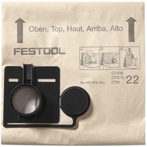1121128 Festool FIS-CT 22/20 Filtersäck 20 stycken