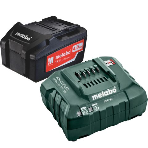 1111034 Metabo Li-Power 18V 4,0Ah, ASC 55 12-36 V Laddpaket