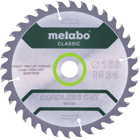 1111085 Metabo 628279000 Sågklinga 165x20mm, 36T
