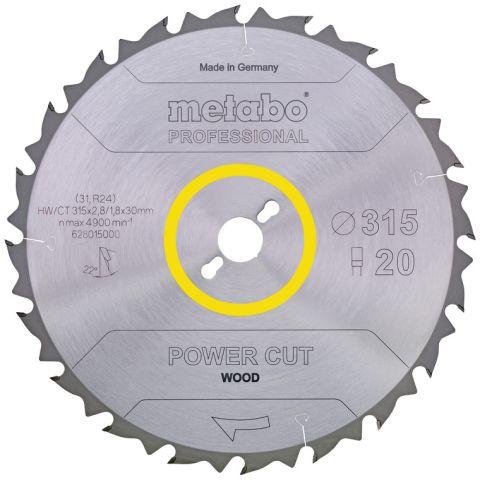 1111215 Metabo 628020000 Sågklinga 450x30 mm, 32T, för trä