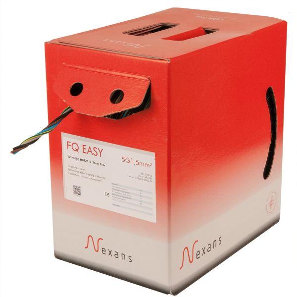Asennuskaapeli Nexans FQ Easy H07Z1-R, 450/750 V, kerrattu 3G1,5 mm²