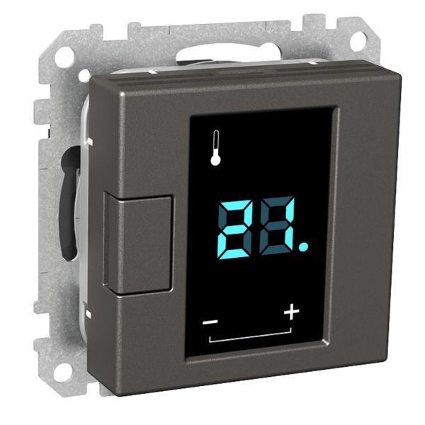 Termostat Schneider Electric Exxact WDE003491 230 V, med display Antrasitt