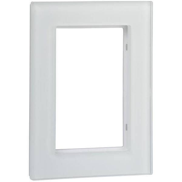 Ram Schneider Electric Exxact Solid till 2-vägs vägguttag, glas, vit