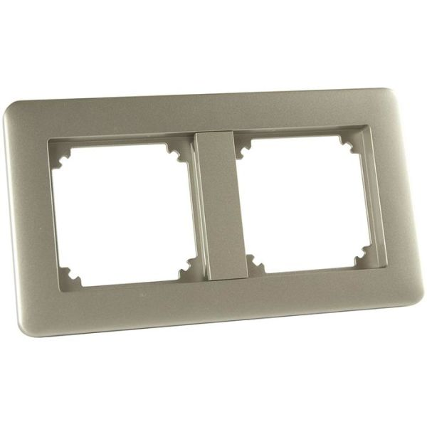 Kombinationsram Schneider Electric Exxact 2 fack, metallic