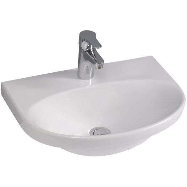 Gustavsberg Nautic 5550 Tvättställ utan bräddavlopp för bult/konsolmontage