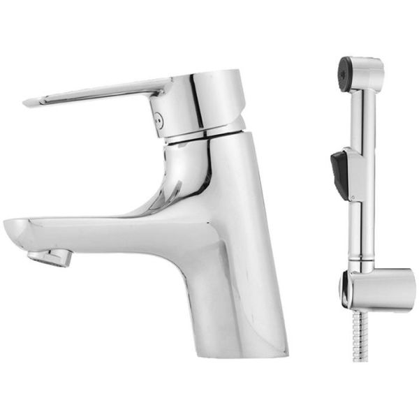 Mora Cera B5 Tvättställsblandare med självstängande sIdodusch