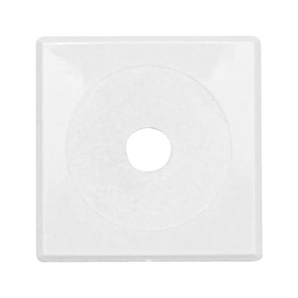 Vulkbricka Faluplast 50440 självhäftande, 12-16 mm, 10-pack Enkel, vit