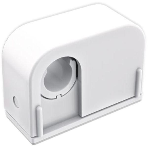 Rörklammer Faluplast Duo Contact 14600 för limning, enkel, 12/15/16 mm Vit