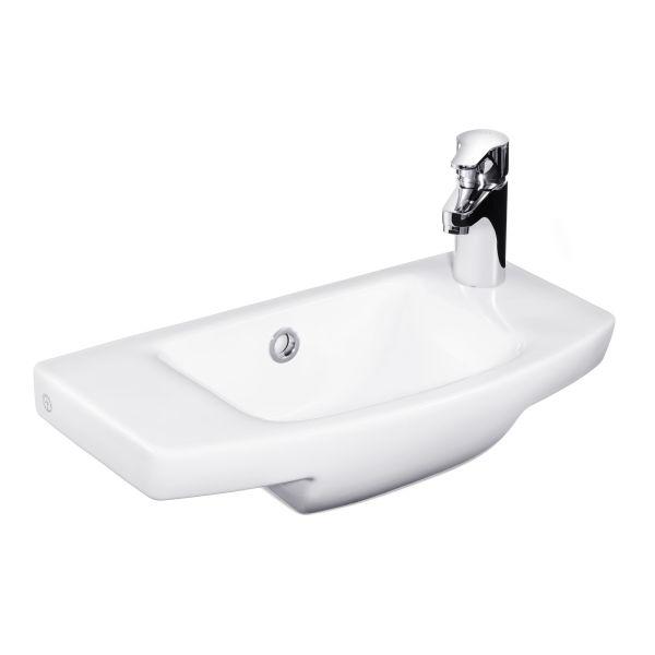 Gustavsberg Logic 5197 Tvättställ för bult/konsolmontage Blandarhål höger