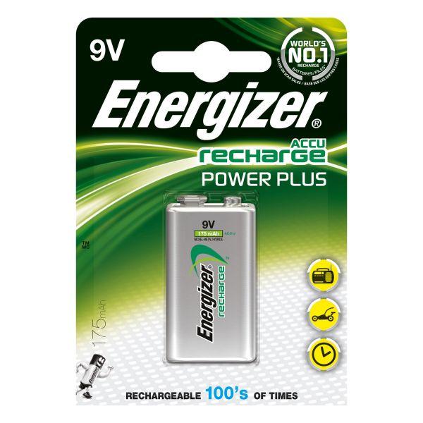 Laddbart batteri Energizer Recharge Power Plus 9 V