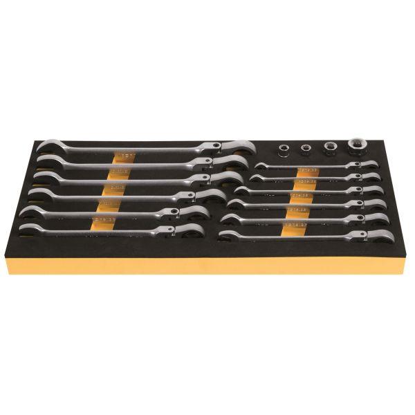 Spärrkombinyckelsats Ironside 100249 16 delar, 8-19 mm