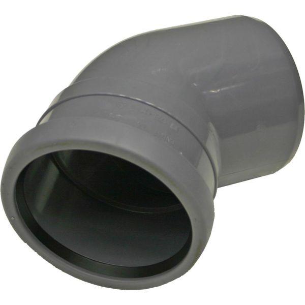 Böj Pipelife 170336 med 1 muff, 45° 110 mm