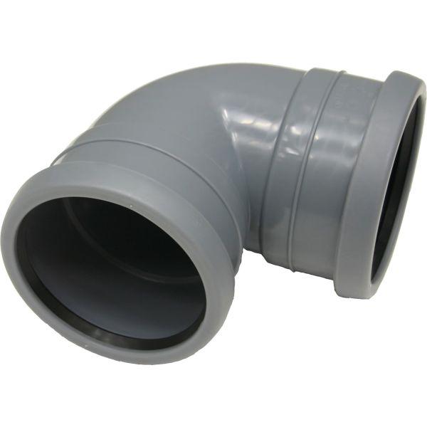 Böj Pipelife 172366 med 2 muffar, 88,5° 110 mm