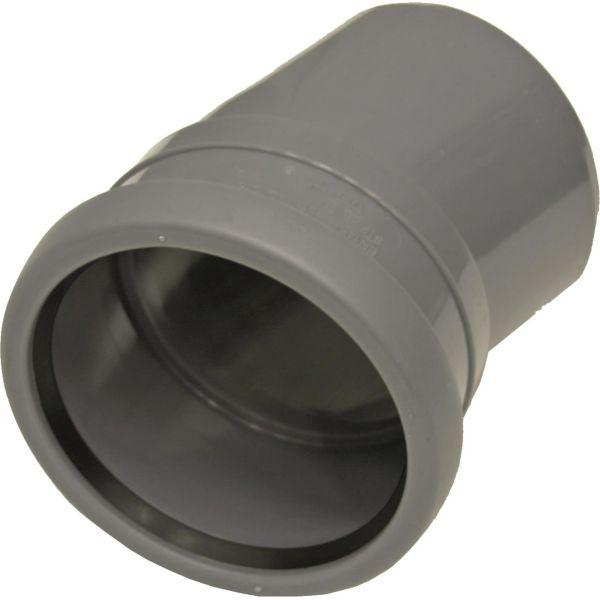 Böj Pipelife 170303 med 1 muff, 15° 50 mm