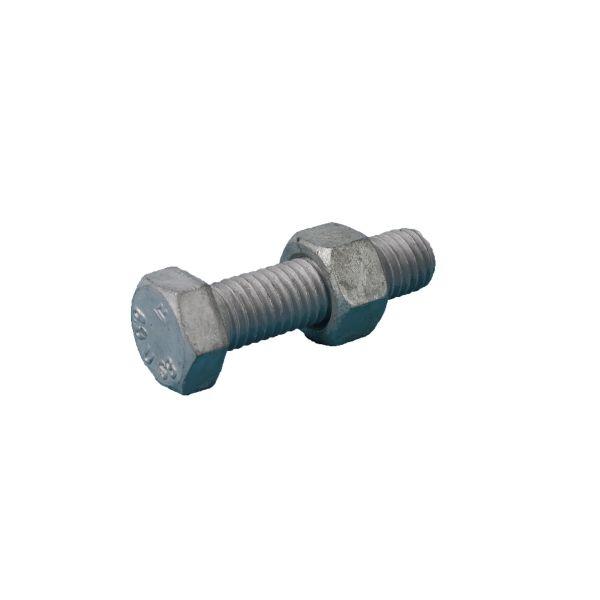 REYHER 40178270160080 SB-skruv M16, helgängad 8.8, EN 15048, FZV M16X80 mm, 25-pack