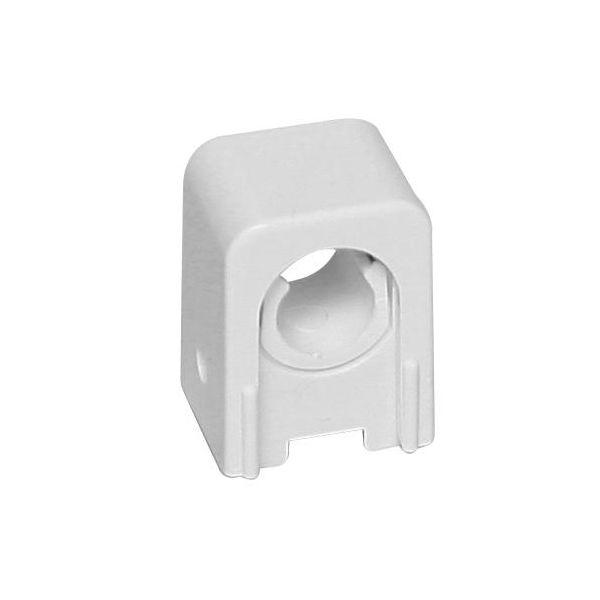 Rörklämma Faluplast Snap 14130 enkel, 12-15 mm Vit