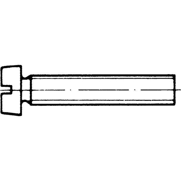 Almén Special Fastener 849412f Skruv MÄSS FN DIN 84, 200-pack M4 x 12 mm