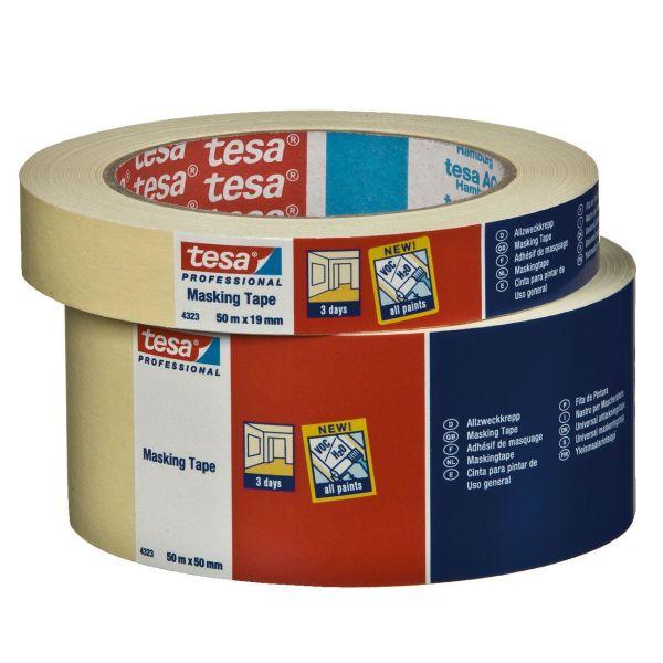 Maalarinteippi Tesa 4323 beige 50 m x 19 mm