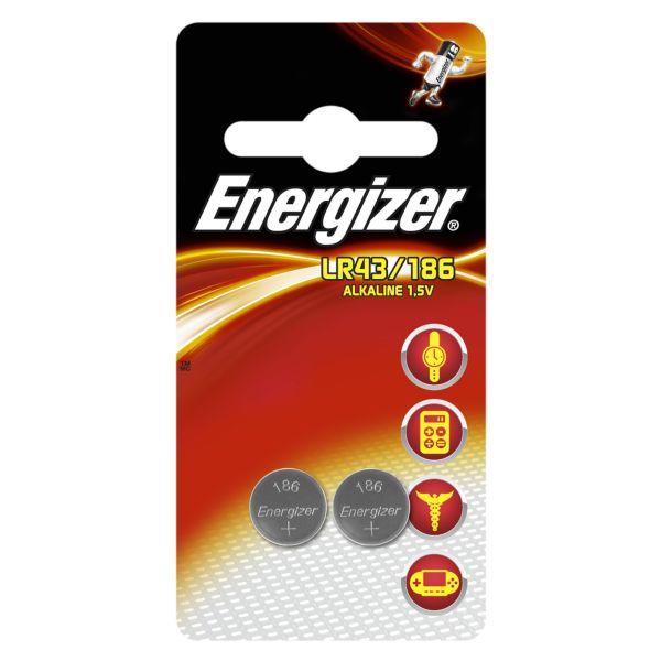 Knappcellsbatteri Energizer Alkaline LR43/186 FSB2 1,5 V, 2-pack