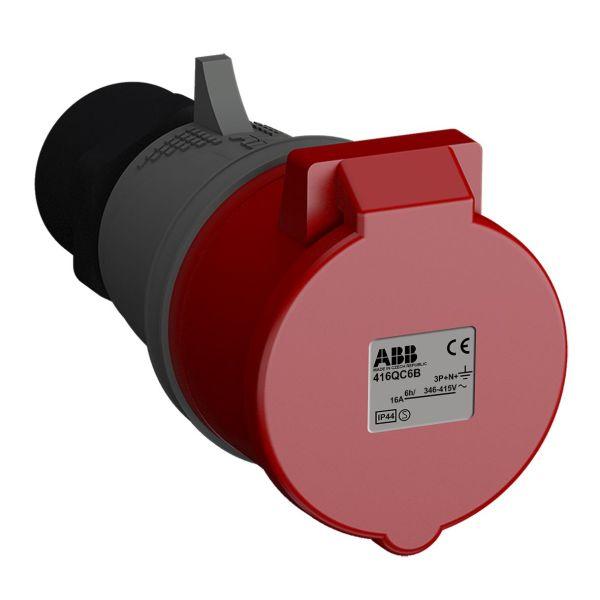 Skarvuttag ABB 2CMA102325R1000 snabbansluten, vibrationsbeständig Röd, 16 A, 5-polig, IP44