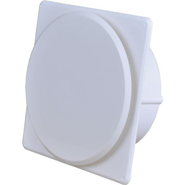 Tallriksventil Flexit 02053 med ram och karm 125 mm