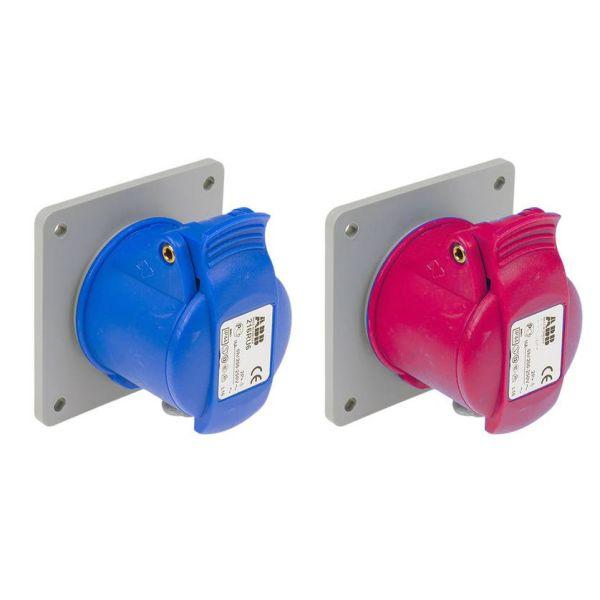 ABB 2CMA193242R1000 Vägguttag IP44 32 A för panelmontering 3-polig blå