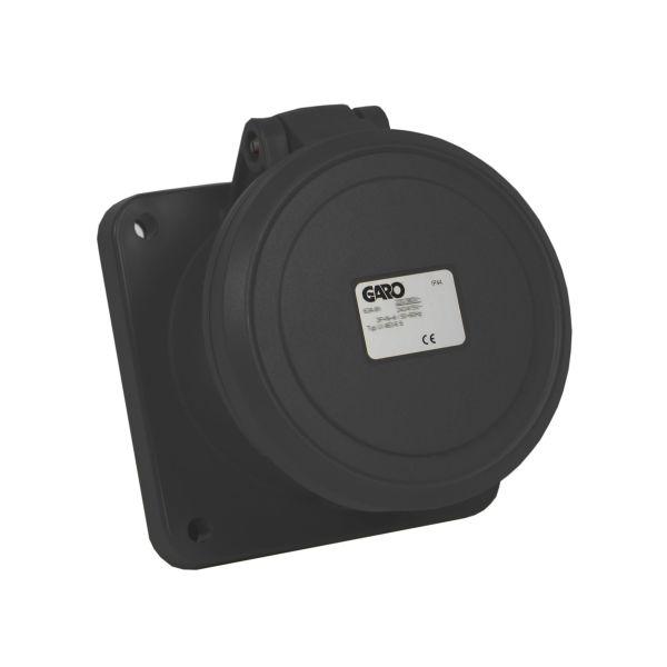Garo UI 363-5 S Paneluttag IP44 4-polig 63A Svart 5h
