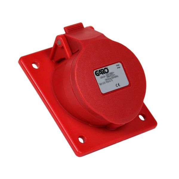 Garo UIS 416-11 S Paneluttag IP44 5-polig 16A sned Röd 11 h