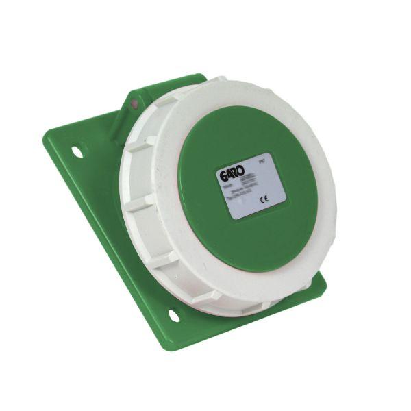 Garo UISV 316-10 S Paneluttag IP67 4-polig 16A sned Grön 10 h